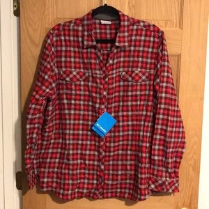 Women's Columbia Long Sleeve Button Up Flannel